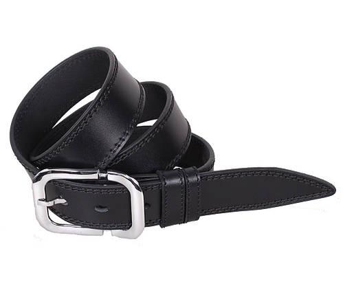Мужской кожаный ремень Dovhani LP610-19917 115-125 см Черный, фото 2