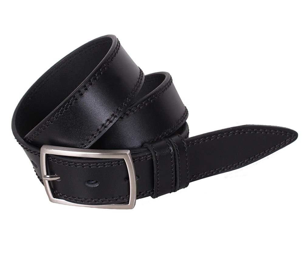 Мужской кожаный ремень Dovhani LP611-19918 115-125 см Черный