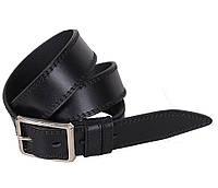 Мужской кожаный ремень Dovhani LP612-19919 115-125 см Черный, фото 1