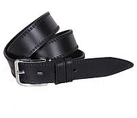 Мужской кожаный ремень Dovhani LP618-19925 115-125 см Черный, фото 1