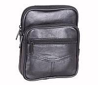 Мужская кожаная сумка Dovhani BL30370227 Черная, фото 1