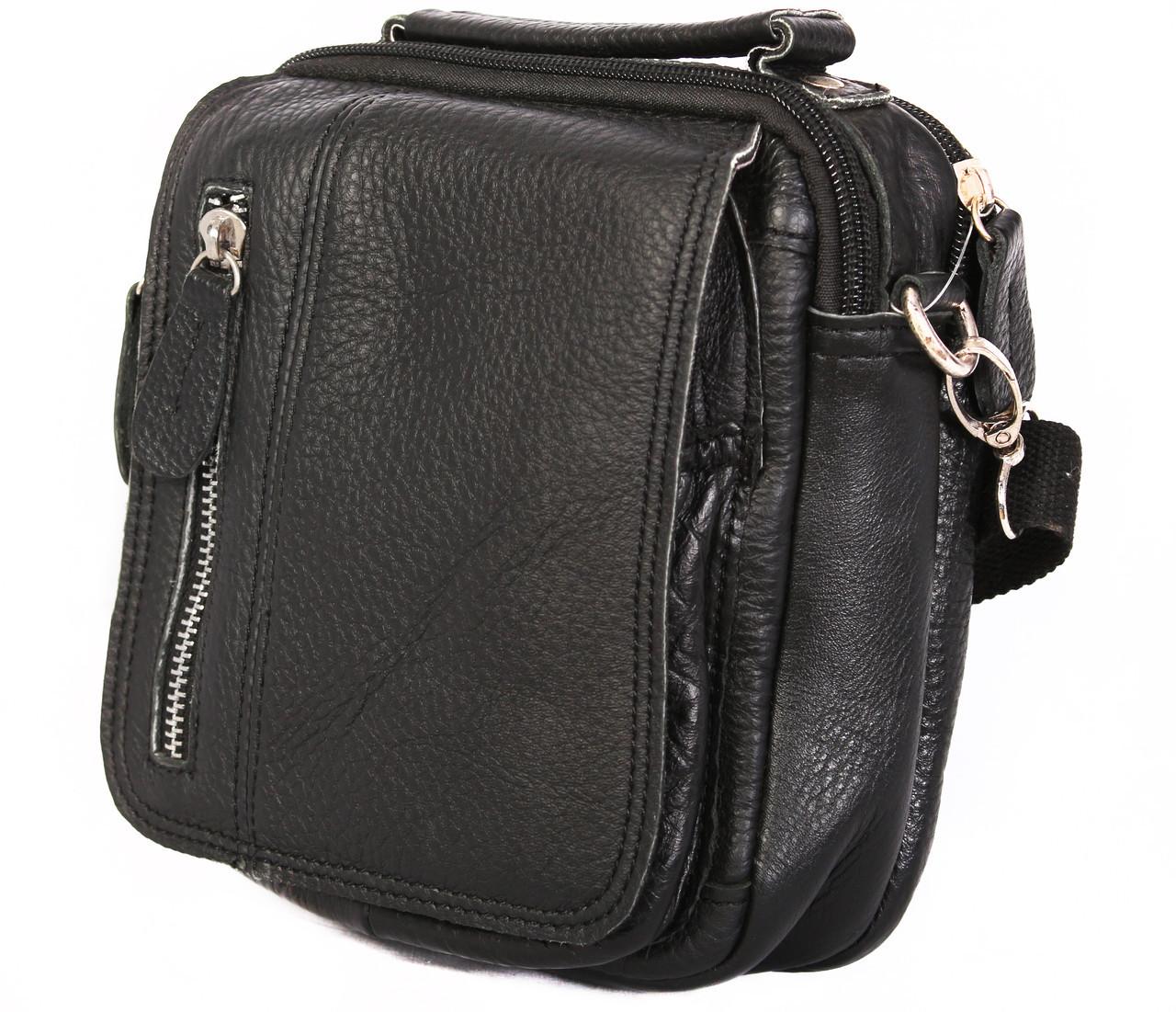 Мужская кожаная сумка Dovhani BL3011634 Черная