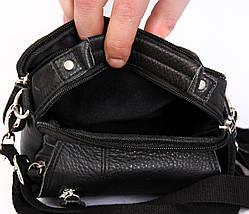 Мужская кожаная сумка Dovhani BL3011634 Черная, фото 2