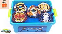 Подарочный набор Бейблейд. Beyblade Box NEW! Блейды В122, В100, В115, В117, B118