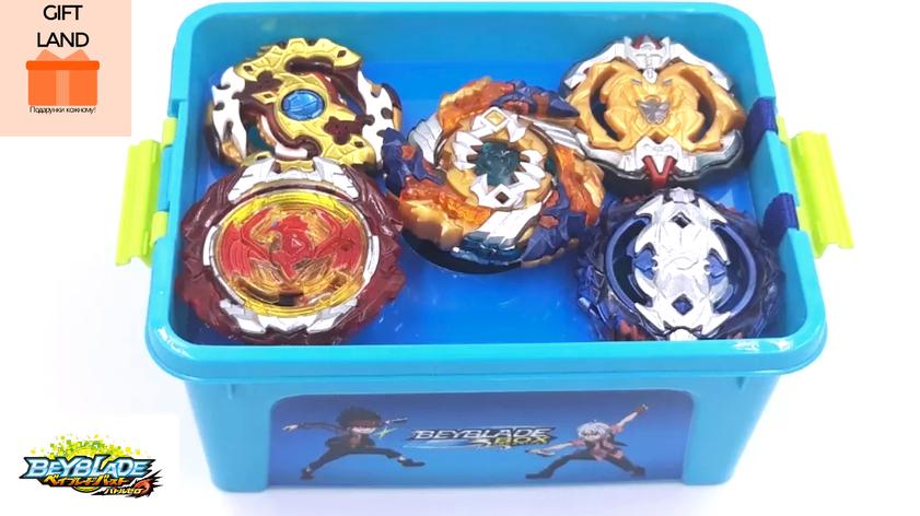 Подарочный набор Бейблейд. Beyblade Box NEW! Блейды В122, В100, В115, В117, B118, фото 2