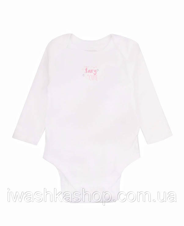 Белое боди с длинными рукавами для новорожденных девочек до 4,5 кг, Early days by Primark