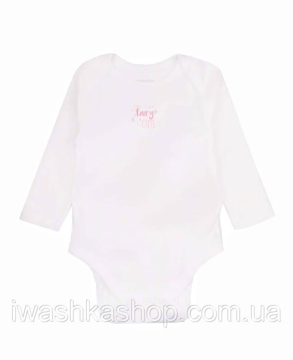 Біле боді з довгими рукавами для новонароджених дівчаток до 4,5 кг, Early days by Primark