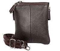 Мужская кожаная сумка Dovhani BL30014241 Черная 18 x 14 x 4 см, фото 1
