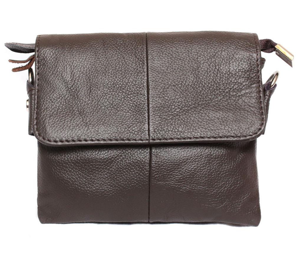 Мужская кожаная сумка Dovhani BL30014652 Коричневая 15 x 17 x 4 см.