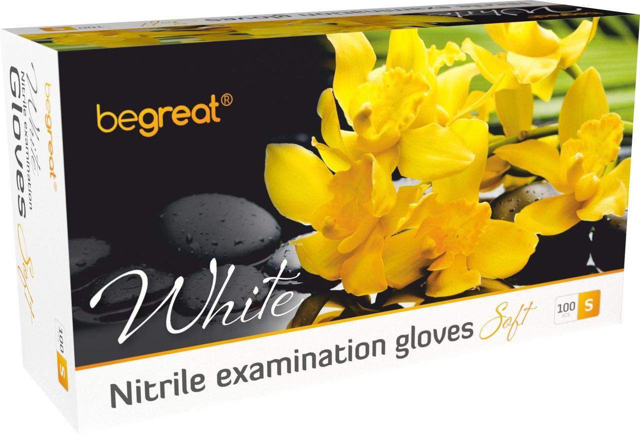 Рукавички нітрилові Fiomex White, premium - 100 шт/уп, S
