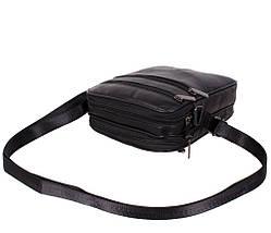 Мужская кожаная сумка Dovhani SW38859 Черная, фото 3