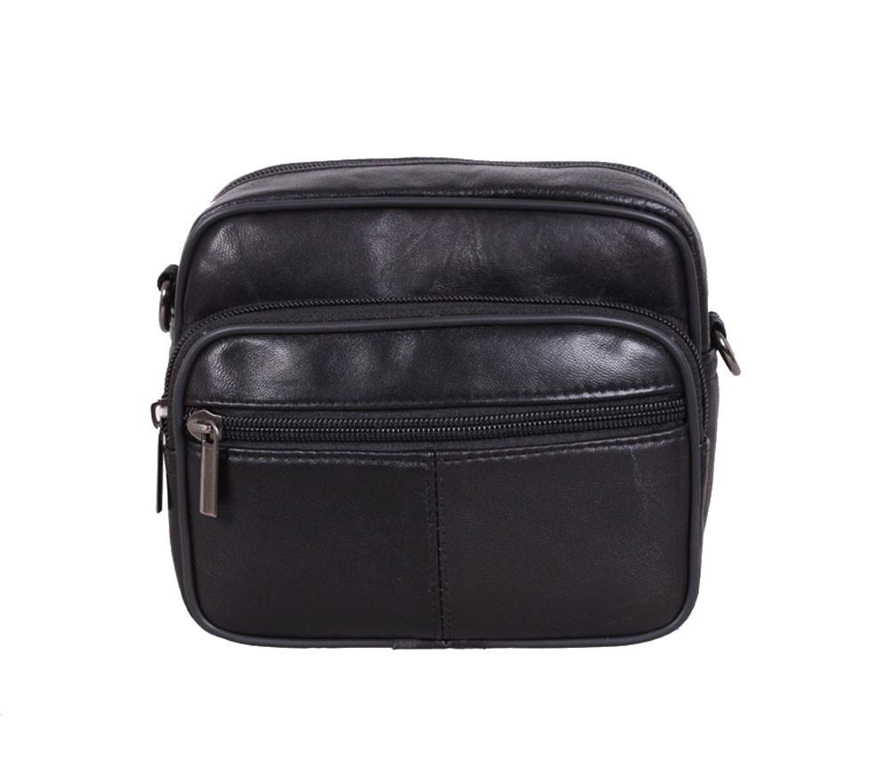 Мужская кожаная сумка Dovhani SW100261 Черная
