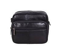 Мужская кожаная сумка Dovhani SW100261 Черная, фото 1