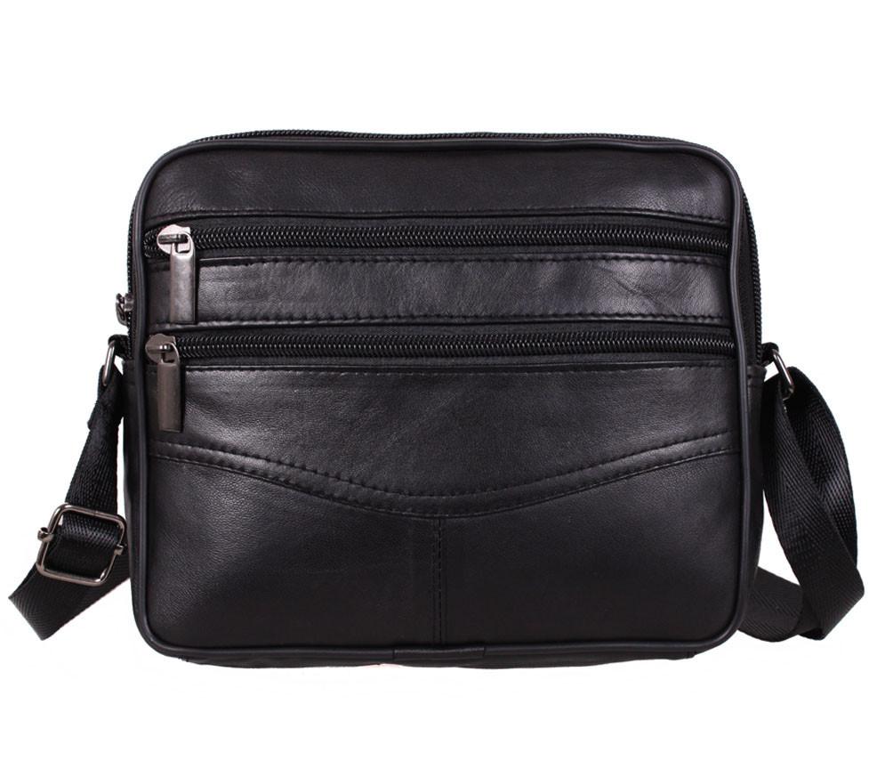 Мужская кожаная сумка Dovhani SW338162 Черная