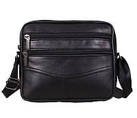 Мужская кожаная сумка Dovhani SW338162 Черная, фото 1