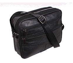 Мужская кожаная сумка Dovhani SW338162 Черная, фото 3