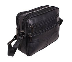 Мужская кожаная сумка Dovhani SW338162 Черная, фото 2