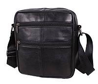 Мужская кожаная сумка Dovhani SW700363 Черная, фото 1