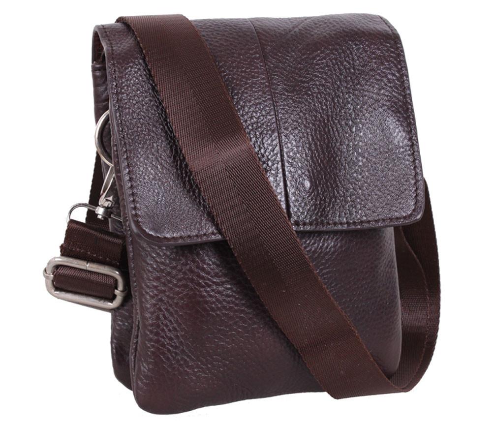 Мужская кожаная сумка Dovhani MESS8136-2CF70 Коричневая