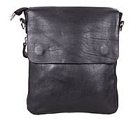 Мужская кожаная сумка Dovhani MESS81388BL71 Черная 23 x 20 x 6 см., фото 1