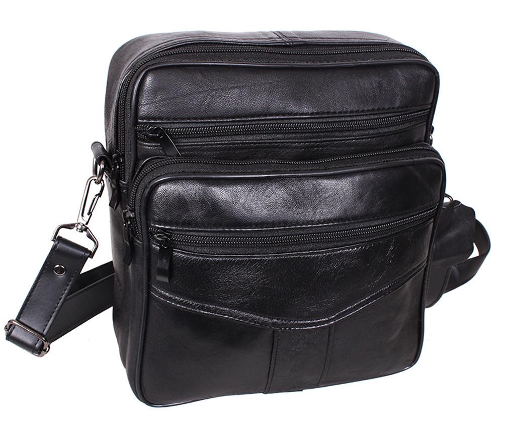 Мужская кожаная сумка Dovhani SW2014-174 Черная