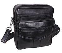 Мужская кожаная сумка Dovhani SW2014-174 Черная, фото 1