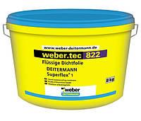 Эластичная гидроизоляция Вебер.Тек 822 (Суперфлекс 1) / Weber. tec 822 (Superflex 1) серый (уп.24 кг)