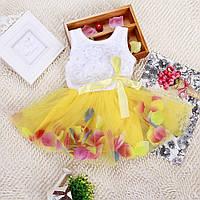 Платье с фатиновой юбкой размер 92.
