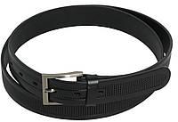 Брючный мужской ремень Rovicky PLW-R-14 черный ДхШ: 121-130х3 см.