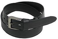 Мужской кожаный ремень Robicky ROV-3-96588 черный 112-131х4 см.