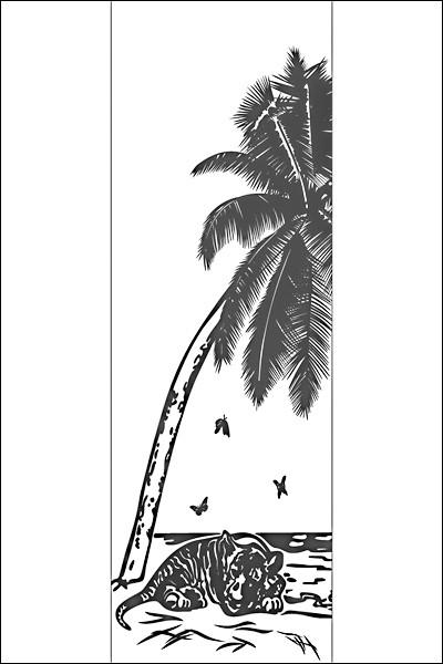 Пескоструйный рисунок на 1 дверь