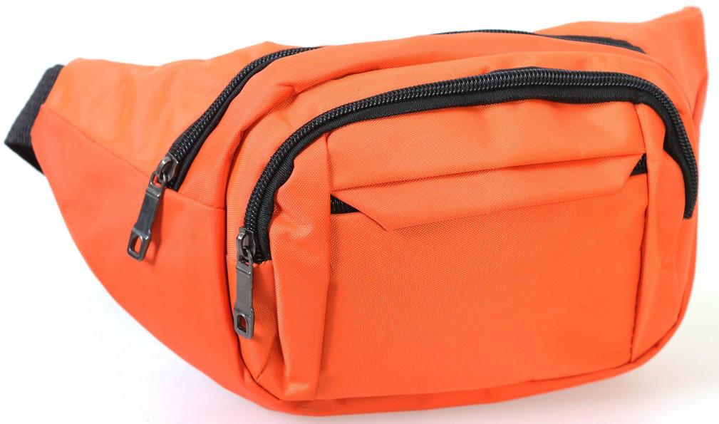 Сумка текстильная поясная Dovhani Q003-2Orange137 Оранжевая