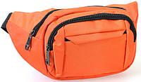 Сумка текстильная поясная Dovhani Q003-2Orange137 Оранжевая, фото 1