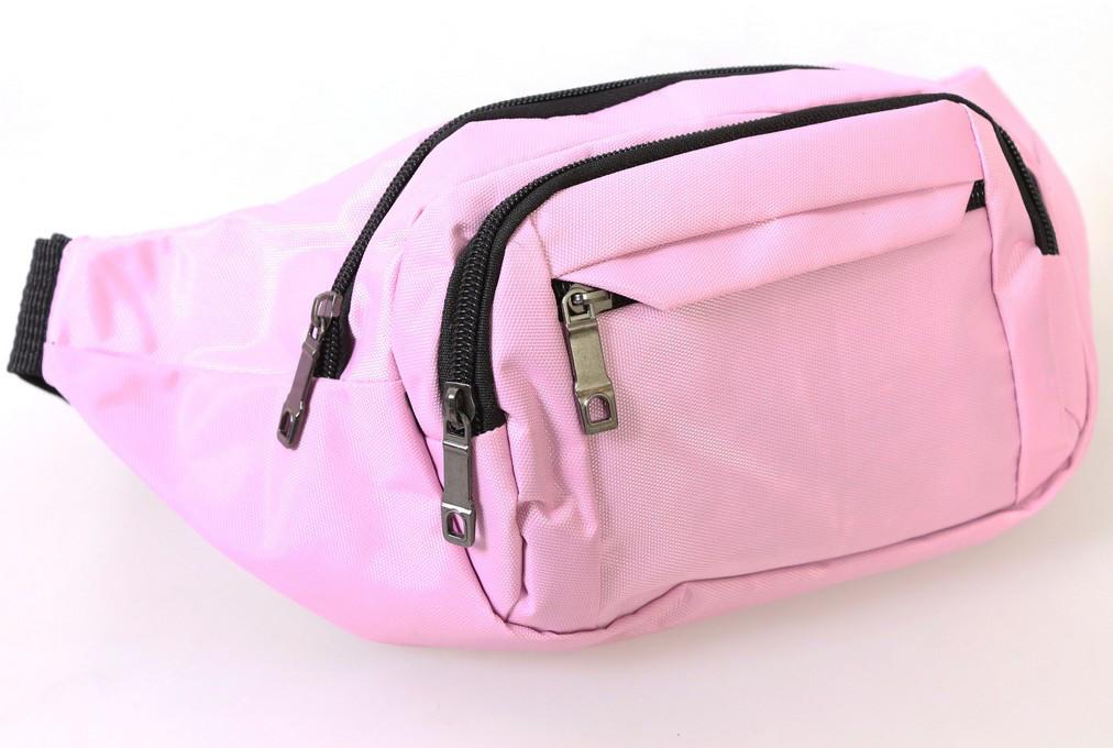 Сумка текстильная поясная Dovhani Q003-3SkyPink138 Розовая, фото 1