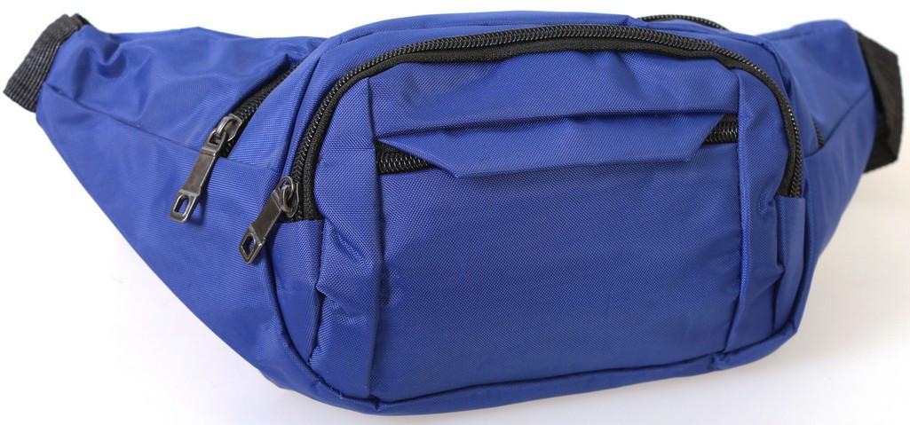 Сумка текстильная поясная Dovhani Q003-6DBlue151 Синяя