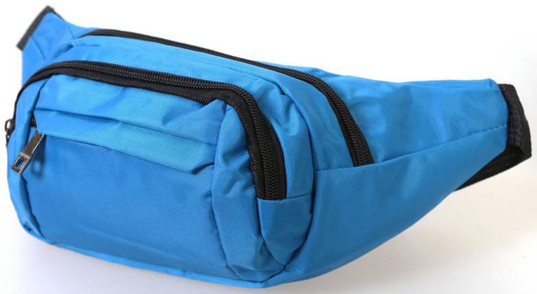 Сумка текстильная на пояс Dovhani Q003-7SkyBlue153 Голубая, фото 2