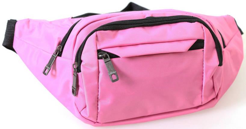 Сумка текстильная на пояс Dovhani Q003-9SkyRose155 Розовая, фото 2