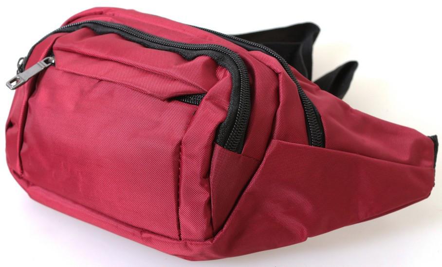 Сумка текстильная поясная Dovhani Q003-13Red159 Красная