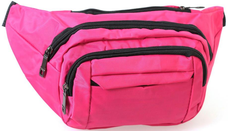 Сумка текстильная поясная Dovhani Q003-18PinkTwo164 Розовая