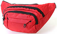 Сумка текстильная поясная Dovhani Q003-19SkyRed165 Красная, фото 1