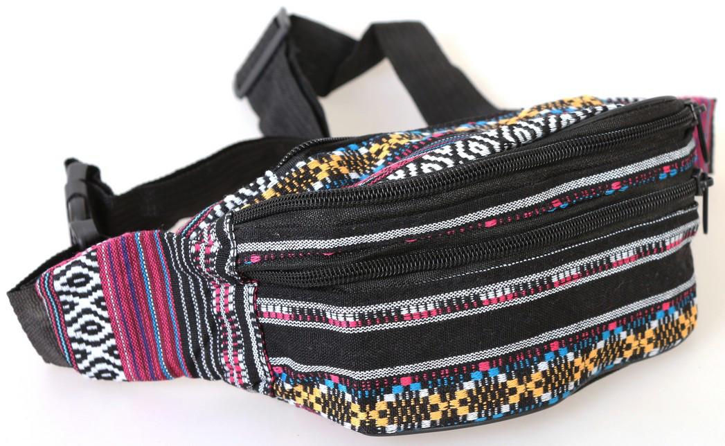 Сумка текстильная на пояс Dovhani Q002-11Ind168 Комбинированая