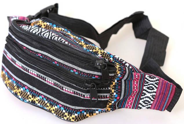 Сумка текстильная на пояс Dovhani Q002-11Ind168 Комбинированая, фото 2
