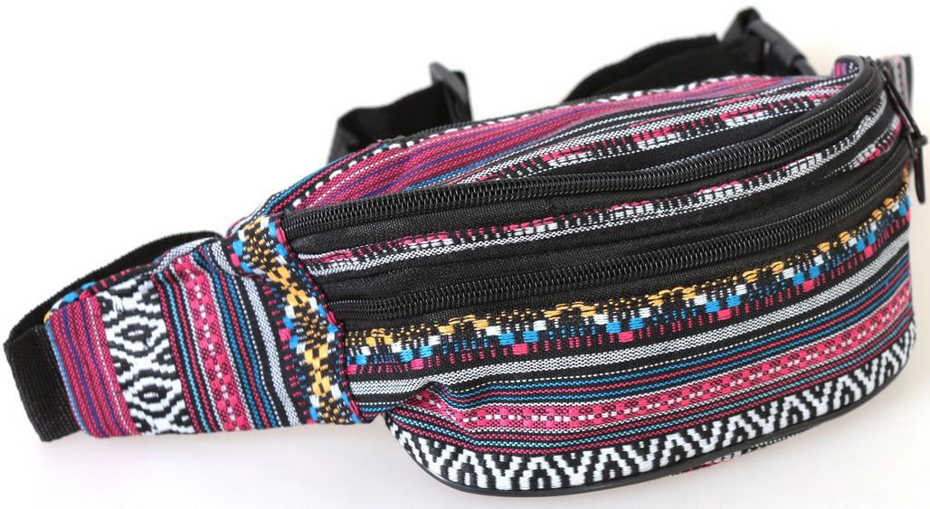 Сумка текстильная поясная Dovhani Q002-13Ind170 Комбинированая