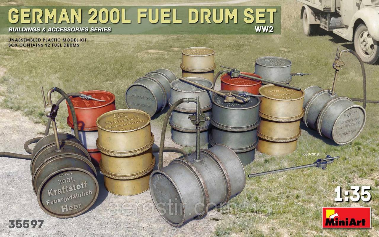 200-литровые бочки 1/35 MiniART 35597
