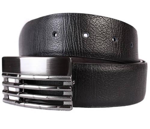 Ремень двухсторонний мужской Dovhani G301132180 110-120 см Черный, фото 2