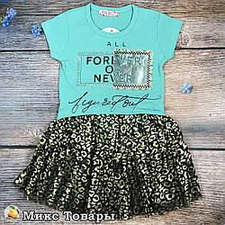 Літнє плаття з коротким рукавом для дівчинки Розміри: 5,6,7,8 років (8503-3)