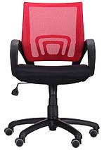Кресло Веб сиденье Сетка черная/спинка Сетка красная, фото 3