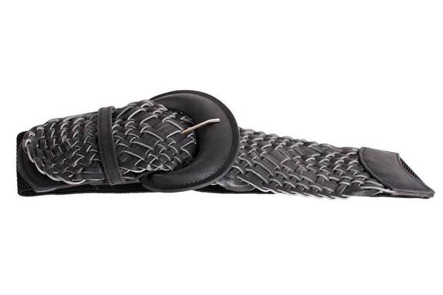 Женский пояс эластичный Dovhani PY222631365 77-92 см Черный, фото 2