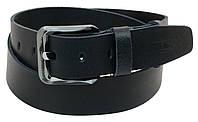 Мужской кожаный ремень под джинсы Skipper 1174-45 темно-синий ДхШ: 131х4,5 см.
