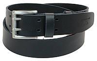 Мужской кожаный ремень под джинсы Skipper 1194-45 темно-синий ДхШ: 130х4,5 см.